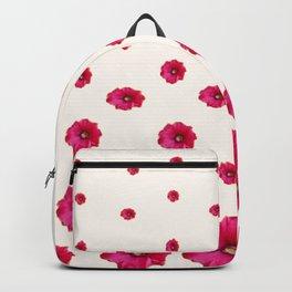 PINK-CERISE ASSORTED FLOATING HOLLYHOCK FLOWERS Backpack
