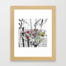 World is a cup of tea Framed Art Print