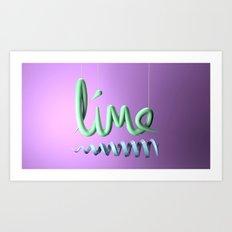 Lime Typography Art Print