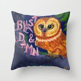 Irritable Owl Syndrome Throw Pillow