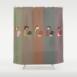 Lumber Ladies Read Shower Curtain