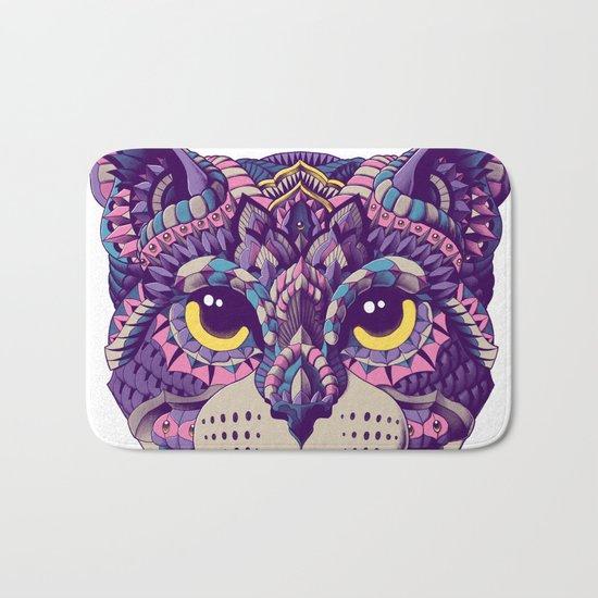 Cat Head (Color Version) Bath Mat
