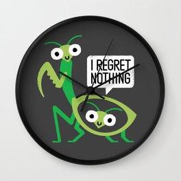 When a Mantis Loves a Woman Wall Clock