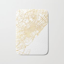 BARCELONA SPAIN CITY STREET MAP ART Bath Mat