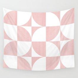 Quadrants (Pink) Wall Tapestry