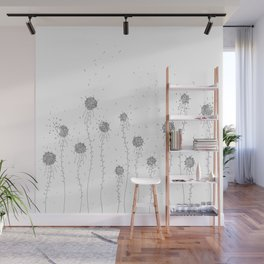 Floral Hand Drawn Doodle Art Wall Mural
