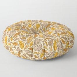 Oak & Squirrels | Autumn Yellows Palette Floor Pillow