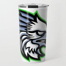 American Harpy Eagle Mascot Travel Mug