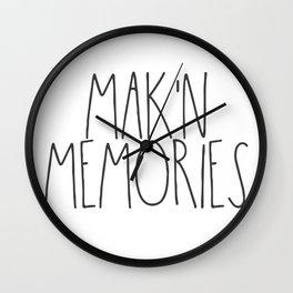 Mak'n Memories Wall Clock