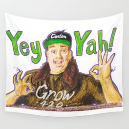 Customgrow420 YEY-YAH! Oil Pastel & Acrylic Wall Tapestry