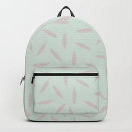 Pillow Fight, Rose on Mint Backpack