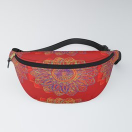 Red Star Burst Fanny Pack