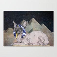Sphynx Cat (space bg) Canvas Print