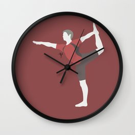 Wii Fit Trainer♂(Smash)Red Wall Clock