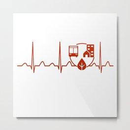 Urban Planner Heartbeat Metal Print