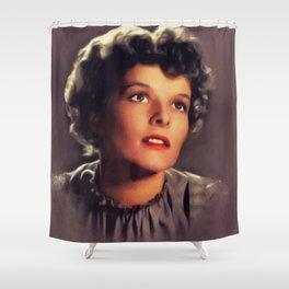Katharine Hepburn, Vintage Actress Shower Curtain