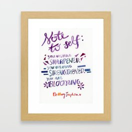 CULTIVATING YOUR GREATNESS Framed Art Print