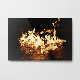 Fire On Water Metal Print
