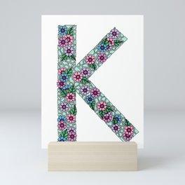 K Initial Mini Art Print