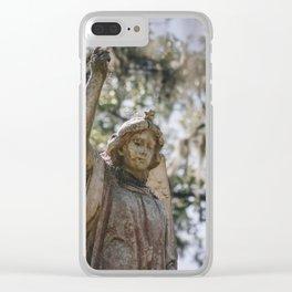 Bonaventure Cemetery Angel II Clear iPhone Case