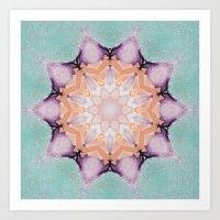 snowflake Art Prints featuring snowflake by patternization