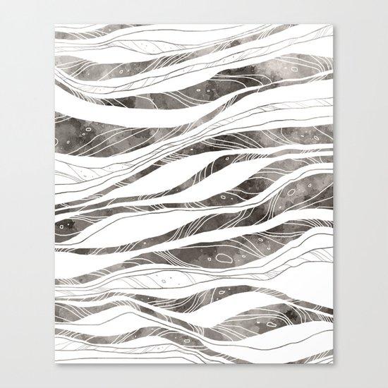 Tidal - B&W Canvas Print