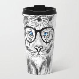Tiger with glasses Travel Mug