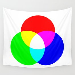 Red Green Blue Light Makes White Wall Tapestry
