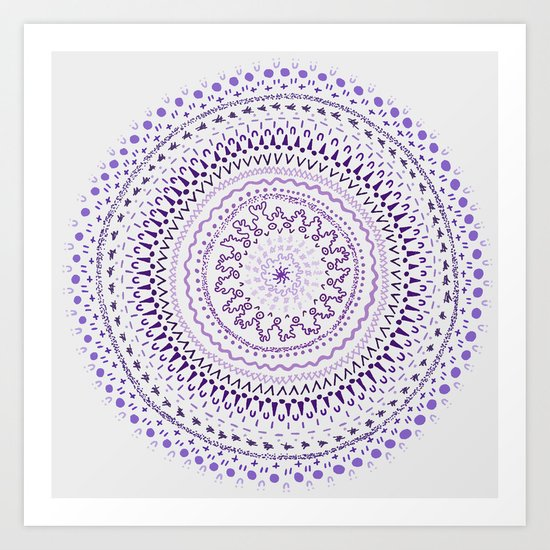Mandala Smile C Art Print