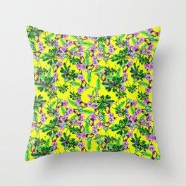 daisy yellow Throw Pillow