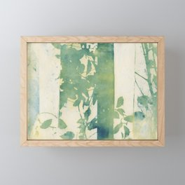 Leaves and Layers Cyanotype Framed Mini Art Print