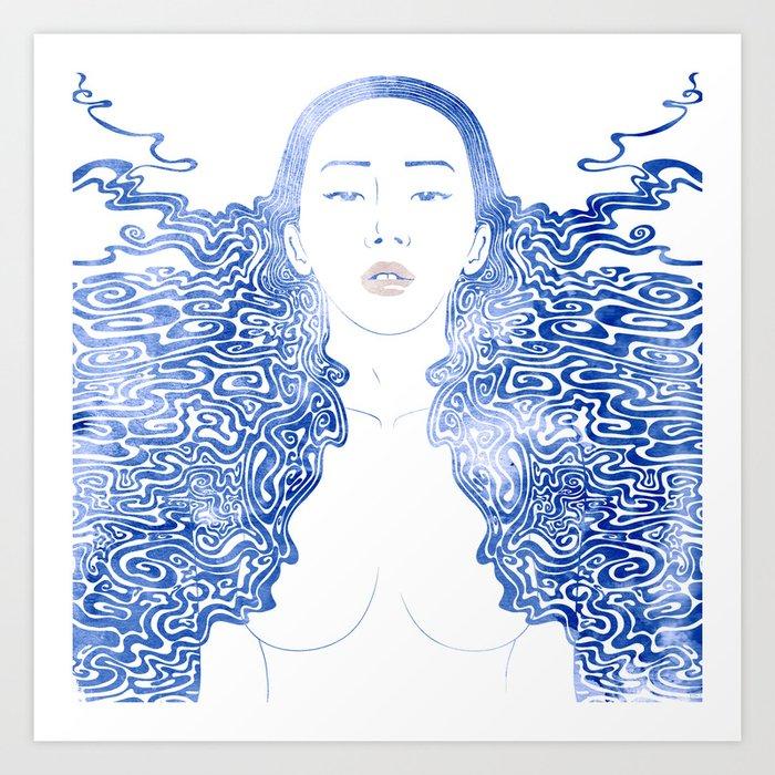 Water Nymph LXXX Art Print