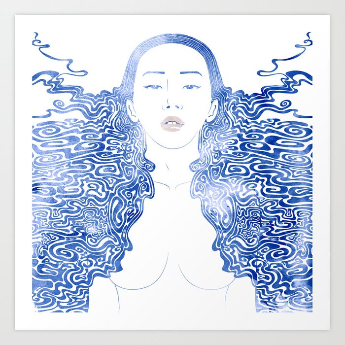 Water Nymph LXXX Art Print