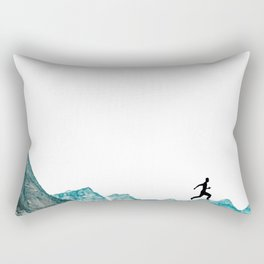 walking high Rectangular Pillow