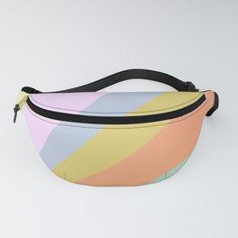 Pastel Rainbow Sunburst Illustration Fanny Pack