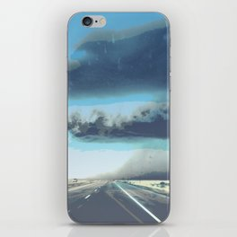 Summer Squall on the Highway, Central New Mexico, 2013 iPhone Skin