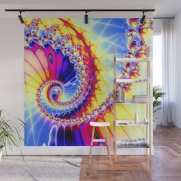 BBQSHOES™: Wu Wei Spiral Fractal Psychedelic Art Wall Mural