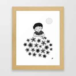 The sun, the rose and the child Framed Art Print