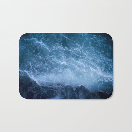 Waves from above Bath Mat