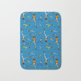 Upside down pattern (in blue) Bath Mat