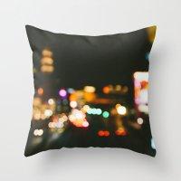 las vegas Throw Pillows featuring Las Vegas by Alden Terry