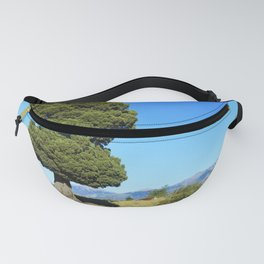Big tree and patagonian landscape Fanny Pack