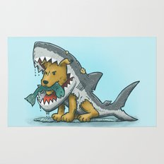 Shark Suit Dog Rug