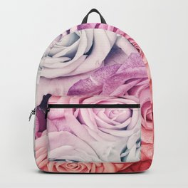 Some people grumble II  Floral rose flowers pink and multicolor Backpack