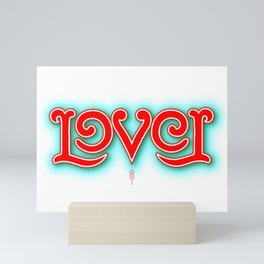 """Lover"" Mirror image ambigram Mini Art Print"