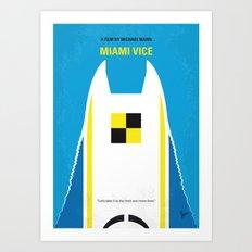 No351 My MIAMI VICE minimal movie poster Art Print