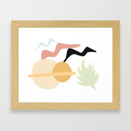 Birds, Sun, Plants Framed Art Print