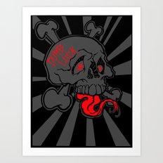Shanghai Skull Blackout Art Print
