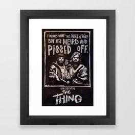 John Carpenter's The THING Framed Art Print