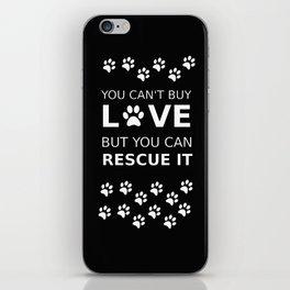 Animal rescue love iPhone Skin